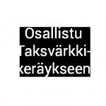 Logossa teksti Osallistu Taksvärkkikeräykseen.