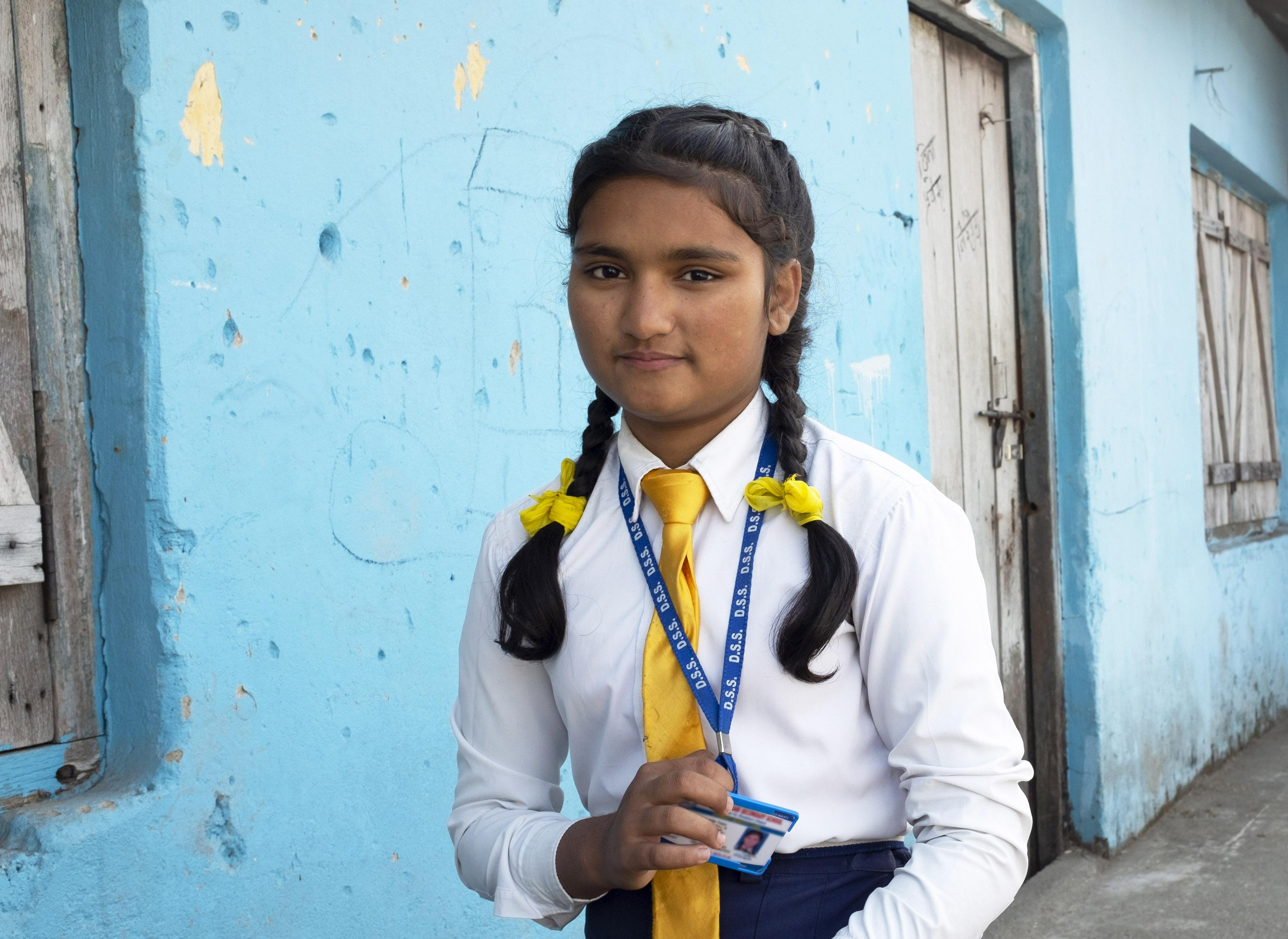 Tarinan kertoja ja oppilaskunnan hallituksen jäsen Ashmita.