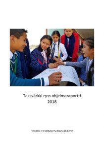 Ohjelmaportin kansikuvassa nepalilaisia nuoria.